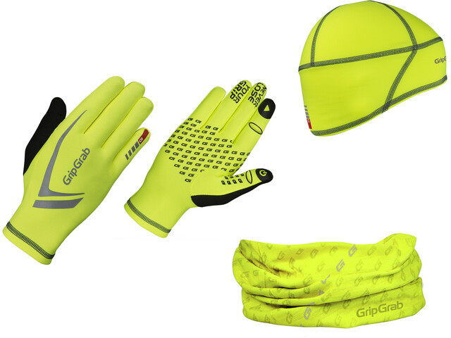 GripGrab Running Essentials Hi-Vis Multipack, fluo yellow